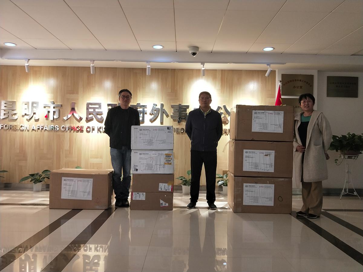 Réception du matériel médical offert par la SSC - Kunming